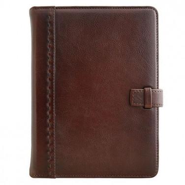 Ежедневник в кожаной обложке Attache brown leather