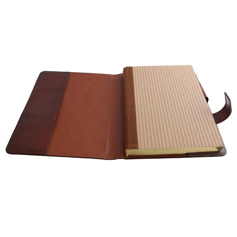 Ежедневник в кожаном переплете Vintage brown leather