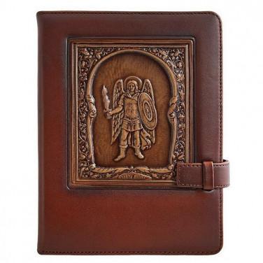 Щоденник у шкіряній обкладинці Аrchangel Michael brown leather