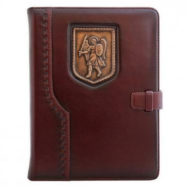 Ежедневник в кожаной обложке St. Michael brown leather