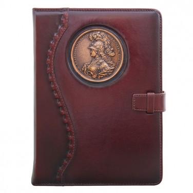 Шкіряний блокнот Empress Catherine brown leather