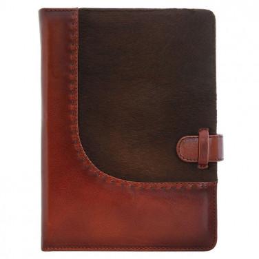 Кожаный блокнот Western brown leather