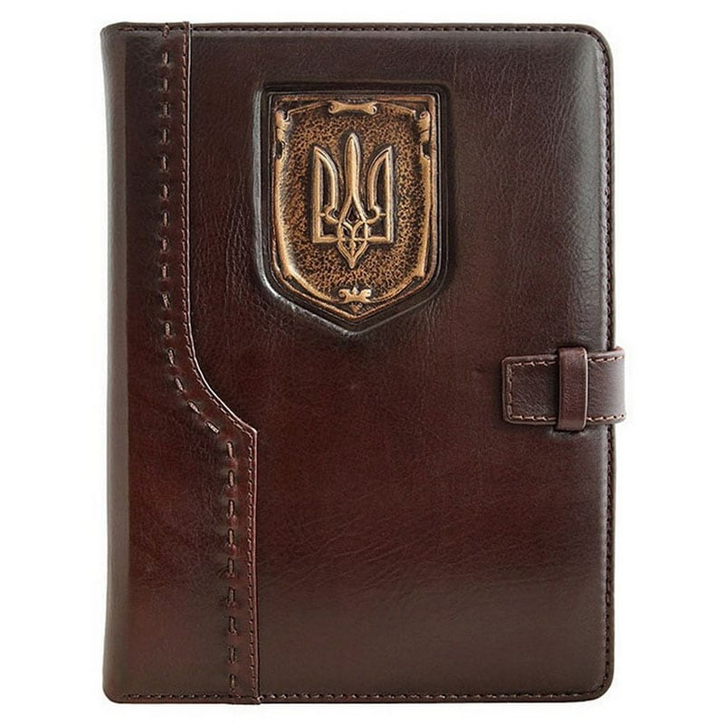 Кожаный блокнот Trident brown leather