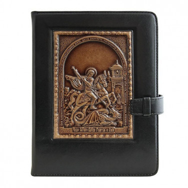 Ежедневник в кожаном переплете St. Georg black leather