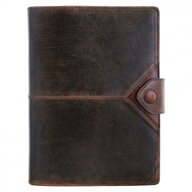 Ежедневник в кожаном переплете Bomber brown leather