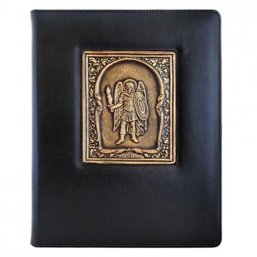 Ежедневник в кожаном переплете St. Michael black leather