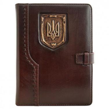 Шкіряний блокнот Trident brown leather