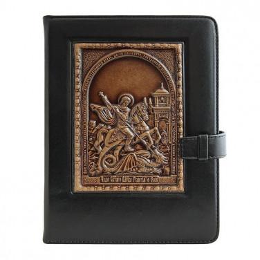 Щоденник в шкіряній палітурці St. Georg black leather