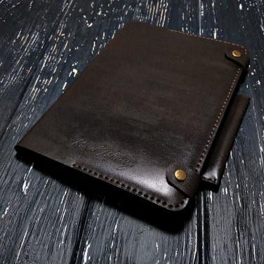Щоденник в шкіряній палітурці Сhocolate brown leather