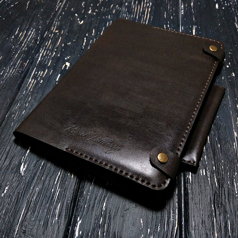 Ежедневник в кожаном переплете Сhocolate brown leather