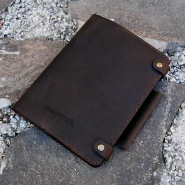 Щоденник у шкіряній обкладинці Americano brown leather