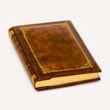 Щоденник в шкіряній палітурці Folio brown leather