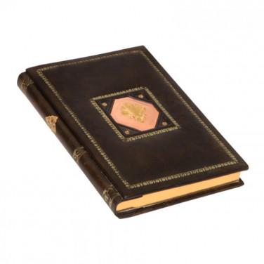 Блокнот в кожаной обложке Sienna brown leather