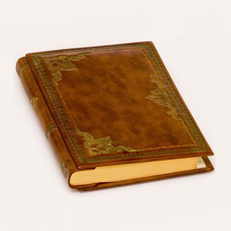 Блокнот в кожаной обложке Florence brown leather
