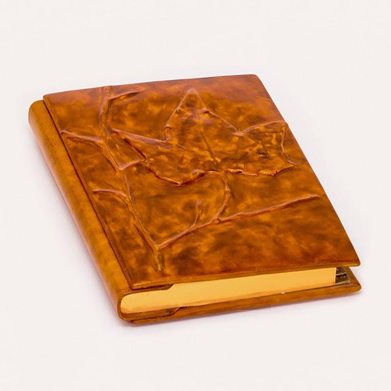 Блокнот в кожаной обложке Maple brown leather