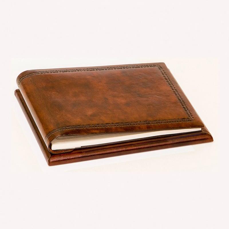 Блокнот в кожаном переплете Tablet brown leather