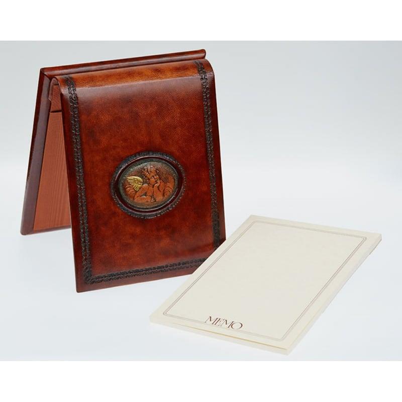 Блокнот в кожаном переплете Angel Raphael brown leather