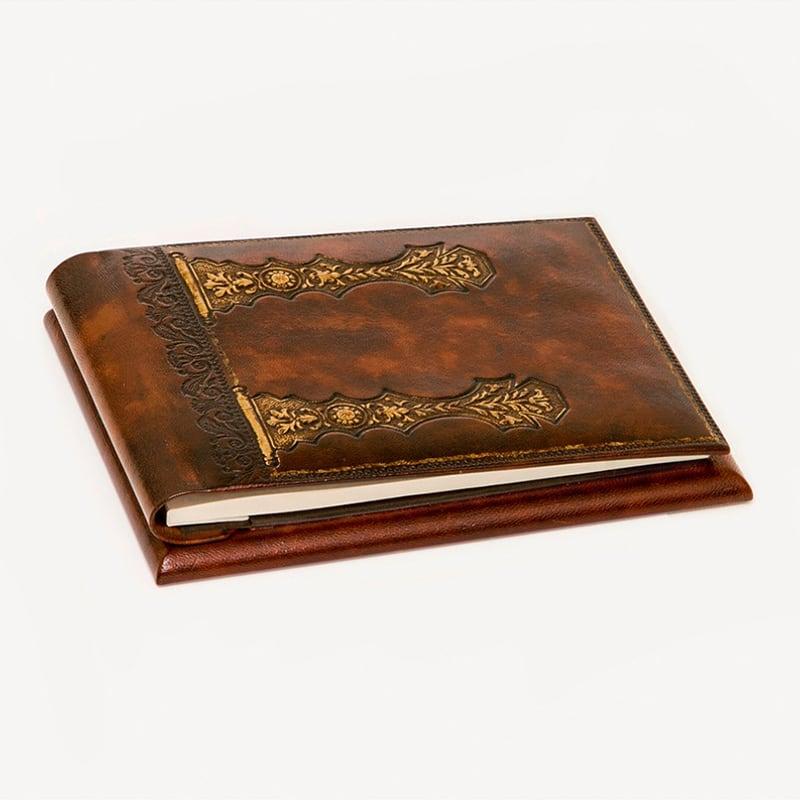 Блокнот в кожаной обложке Heraldic Lance brown leather