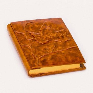 Блокнот в шкіряній обкладинці Maple brown leather