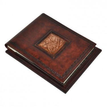 Блокнот в шкіряній обкладинці Leonardo Da Vinci brown leather