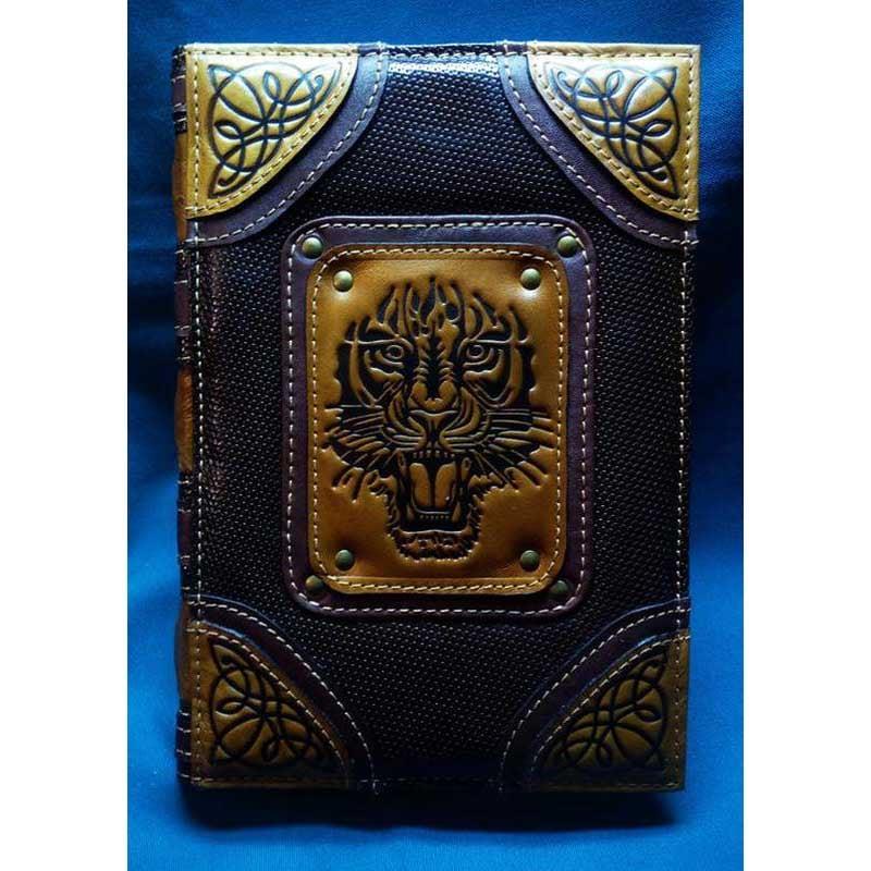 Ежедневник в кожаной обложке Благородный Тигр black leather