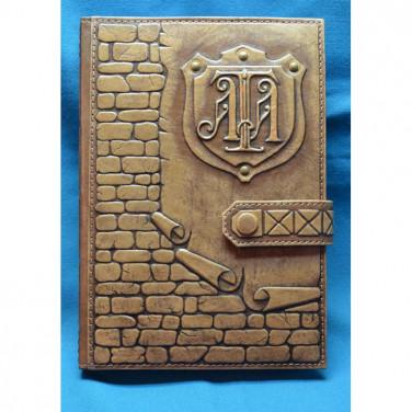 Блокнот в шкіряній обкладинці Стіна brown leather