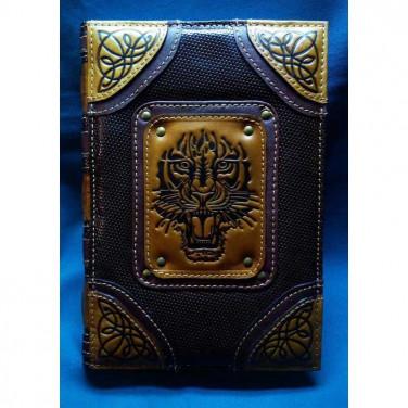 Щоденник у шкіряній обкладинці Благородний Тигр black leather