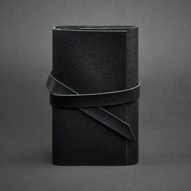Шкіряний блокнот ручної роботи чоловічий Diary Black Leather