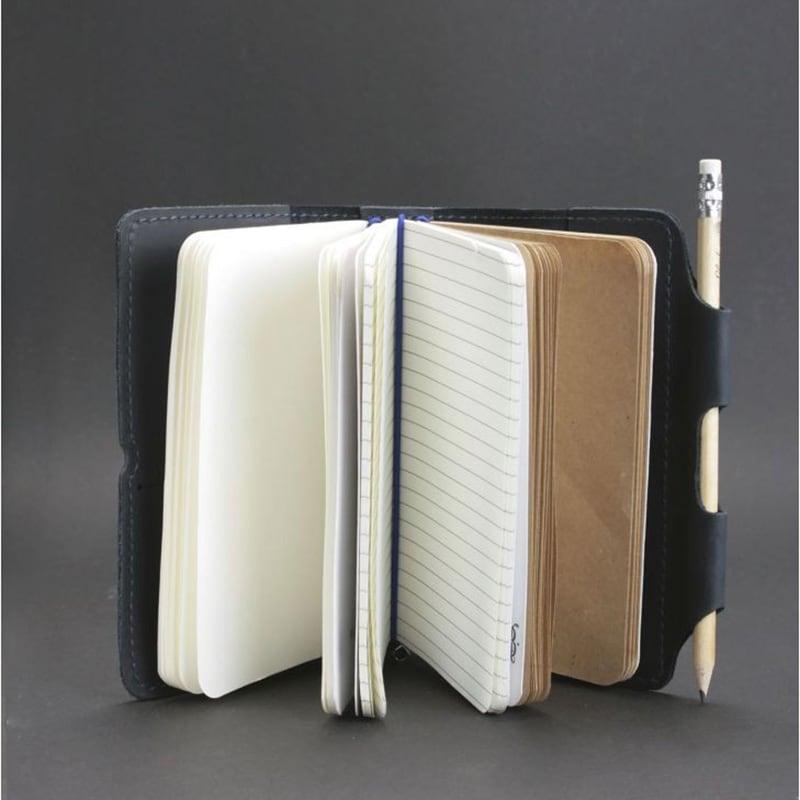 Шкіряний блокнот ручної роботи чоловічий SoftBook Dark Blue Leather