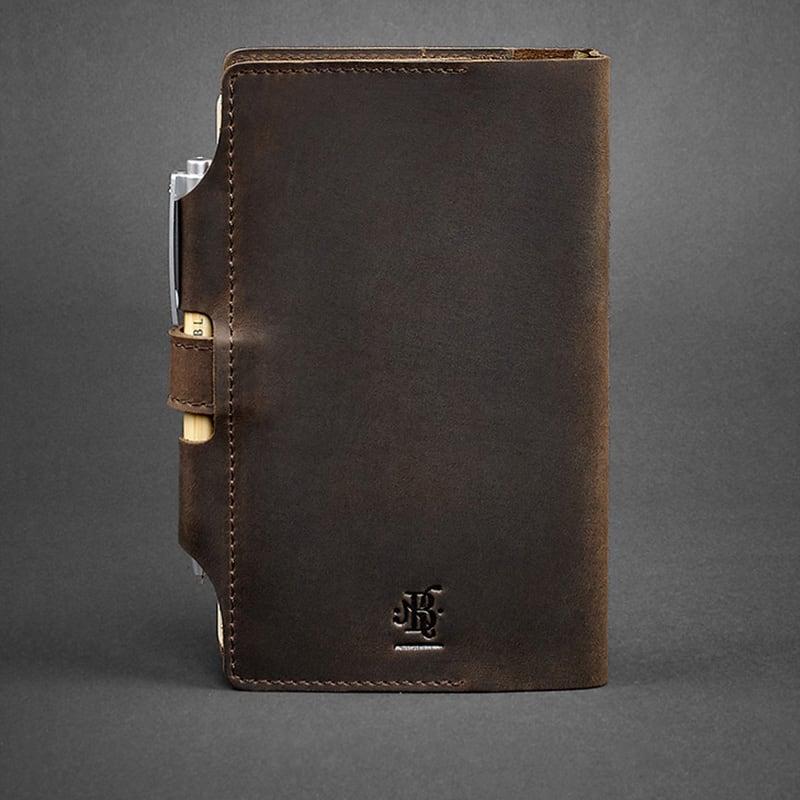 Блокнот в кожаном переплете Sketchpad Dark Brown Leather