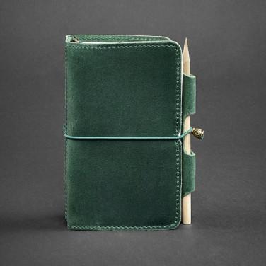 Щоденник у шкіряній обкладинці чоловічого SoftBook Green Leather