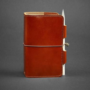 Кожаный блокнот handmade мужской SoftBook Red Leather