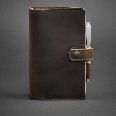 Блокнот в шкіряній палітурці Sketchpad Dark Brown Leather