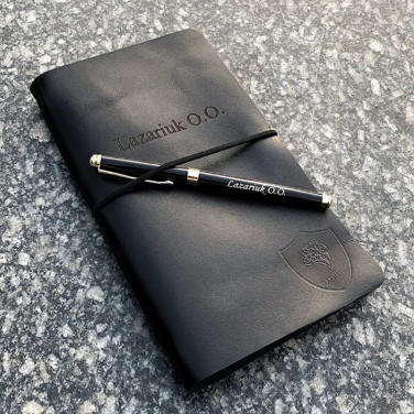 Шкіряний блокнот SoftBook Personal Black Leather