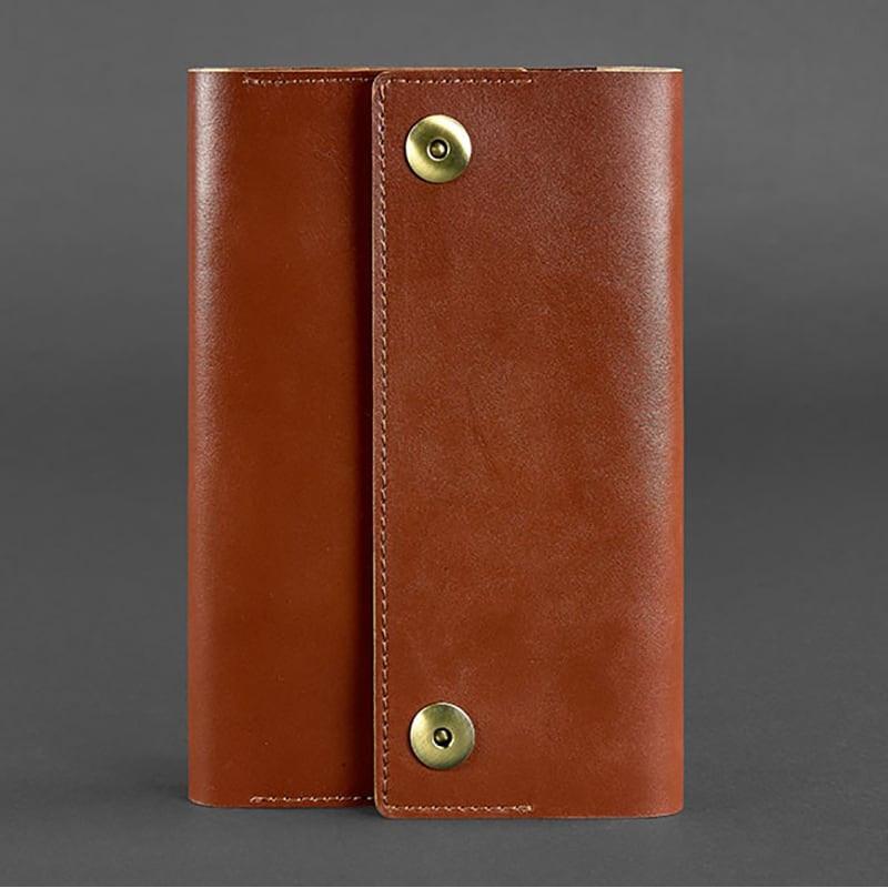 Щоденник в шкіряній палітурці Soft Book Cinnamon brown leather