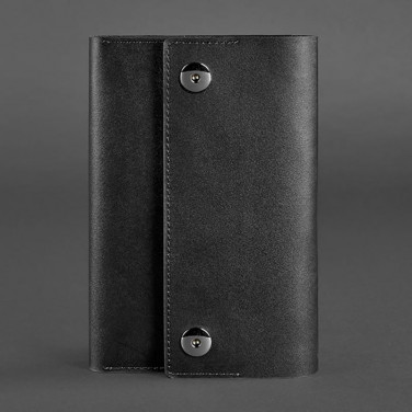 Блокнот в шкіряній обкладинці Soft Book Graphite black leather