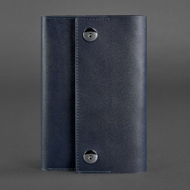 Кожаный блокнот Soft Book Royal Navy blue leather