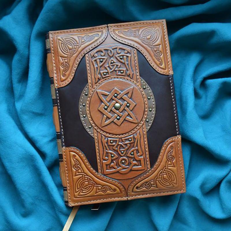 Кожаный блокнот Кельтская Магия brown leather