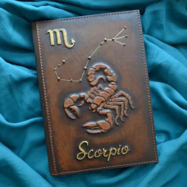 Ежедневник в кожаной обложке Scorpio brown leather