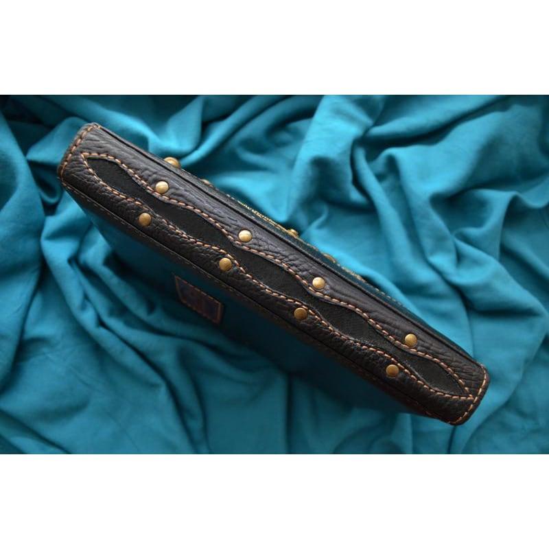 Кожаный блокнот Стимпанк black leather