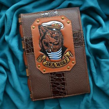 Блокнот в шкіряній обкладинці Sea Dog brown leather