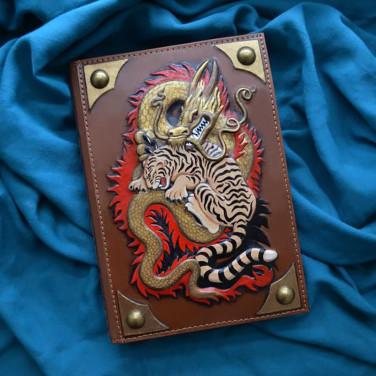 Шкіряний блокнот Equilibrium brown leather