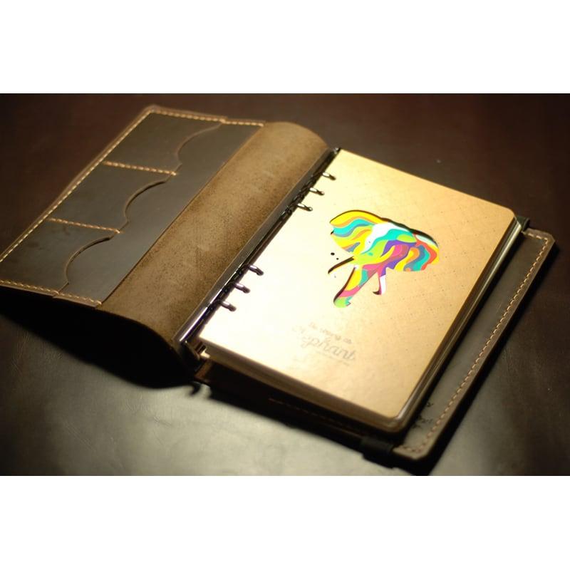 Щоденник а5 в шкіряній обкладинці Sketchpad brown leather