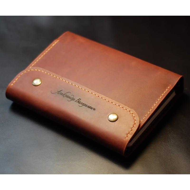 Кожаный блокнот А5 на кольцах Organizer brown leather