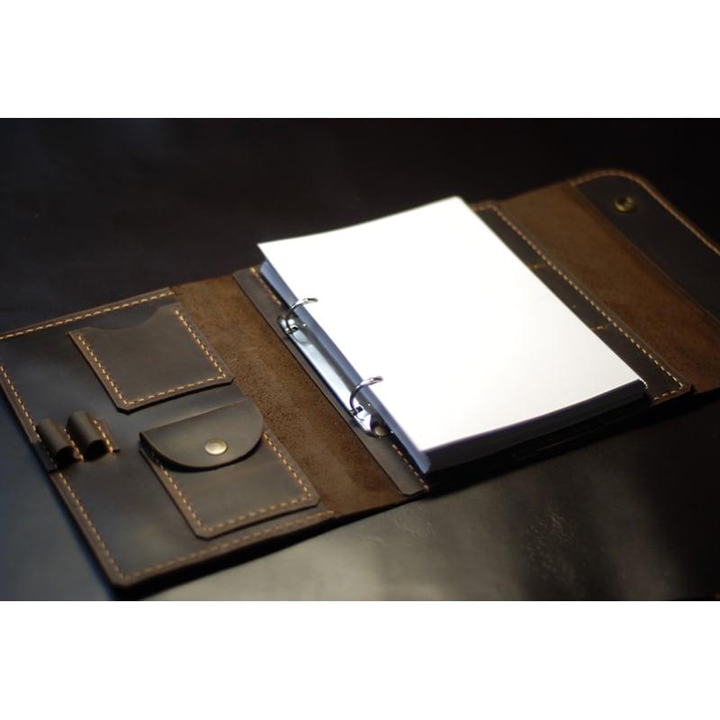 Шкіряний щоденник А5 Notebook brown leather
