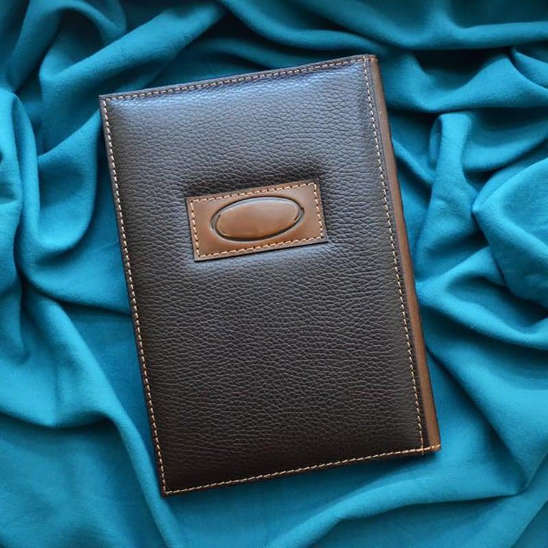 Кожаный блокнот Зодиакальный Козерог brown leather