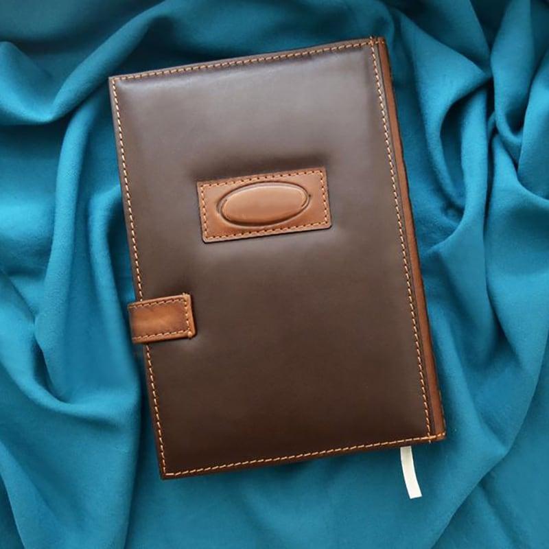 Кожаный блокнот Вдохновение brown leather