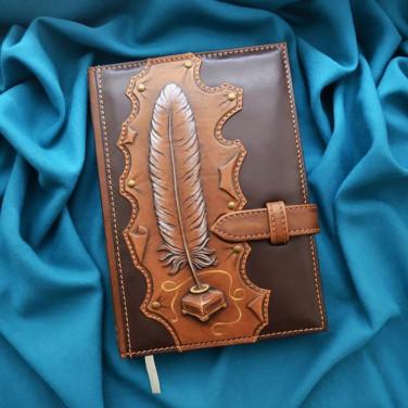 Ежедневник в кожаной обложке Муза brown leather