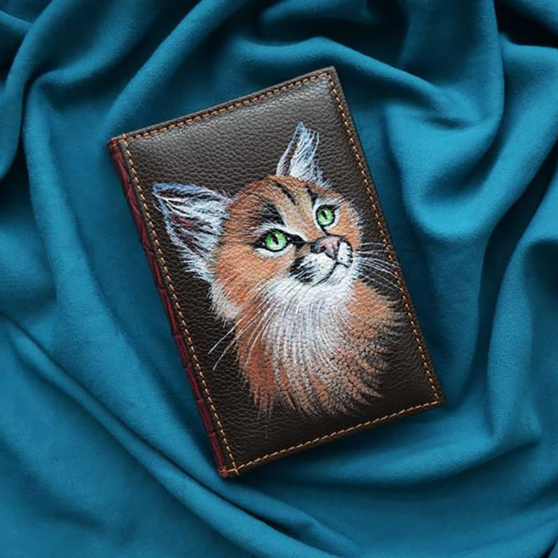 Кожаный ежедневник Lynx brown leather