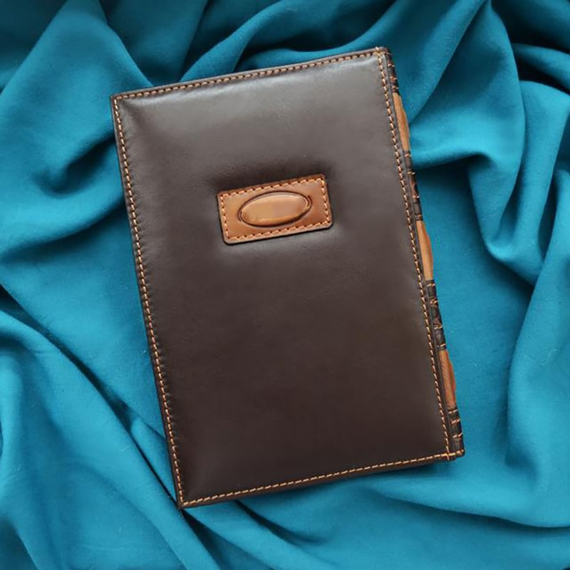 Щоденник в шкіряній обкладинці Wind rose brown leather